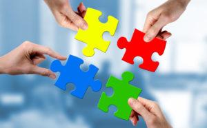 Teamgeist als Puzzle